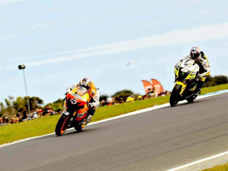 Dovizioso and Edwards in action