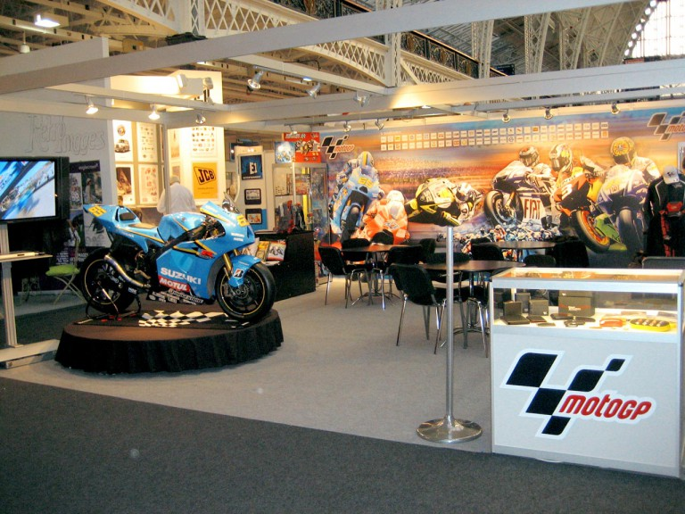 MotoGP stand at the Brand Licensing Europe 2009