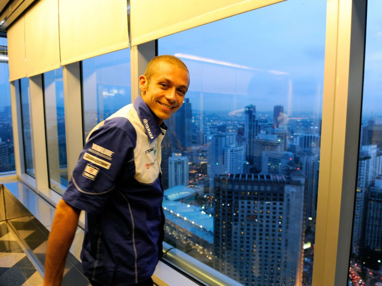 Rossi at the Petronas Towers