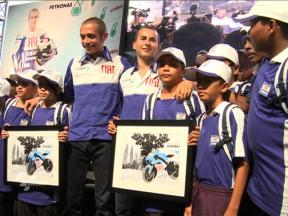 Rossi and Lorenzo at Petronas Towers