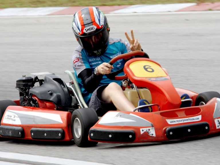 Bradley Smith in Sepang Karting event