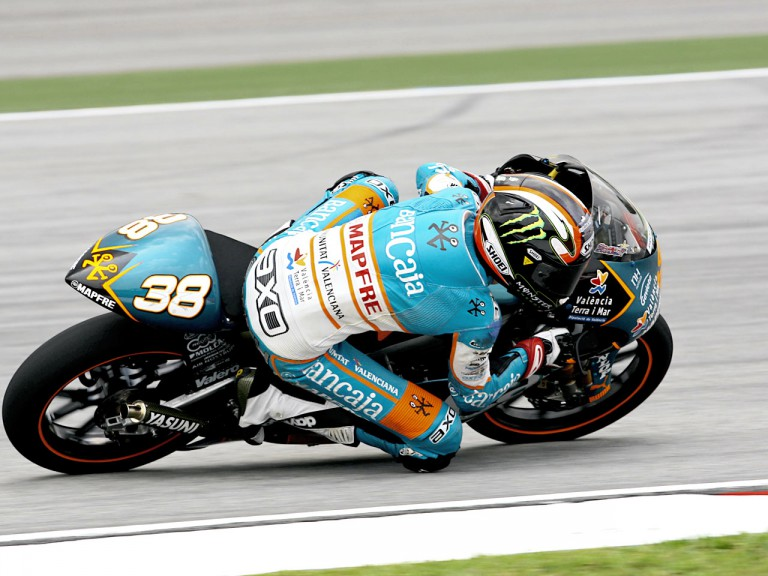 Bradley Smith in action in Sepang