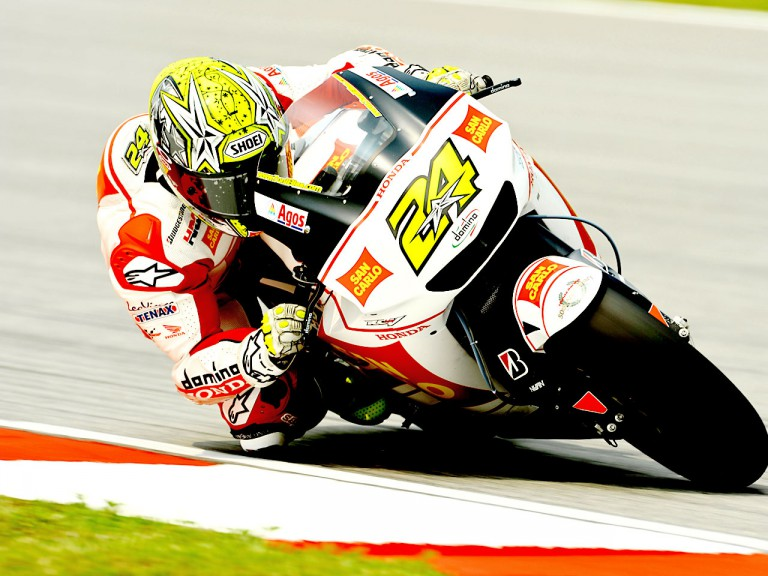 Toni Elias in action in Sepang