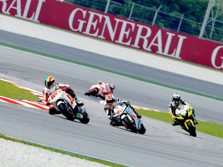 MotoGP Group in action in Sepang