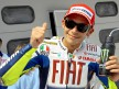 Valentino Rossi in the parc fermé after QP in Sepang