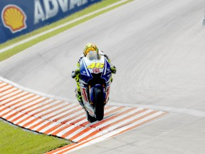 Valentino Rossi in action in Sepang