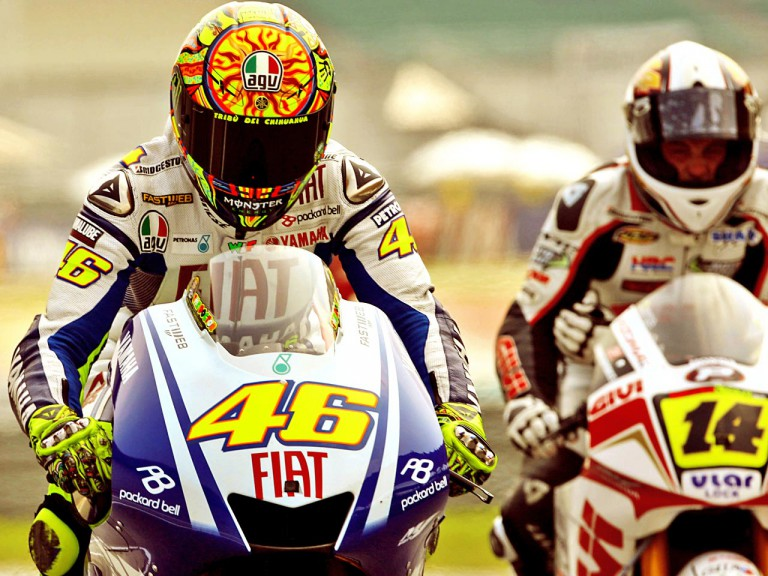 Rossi and De Puniet in Sepang