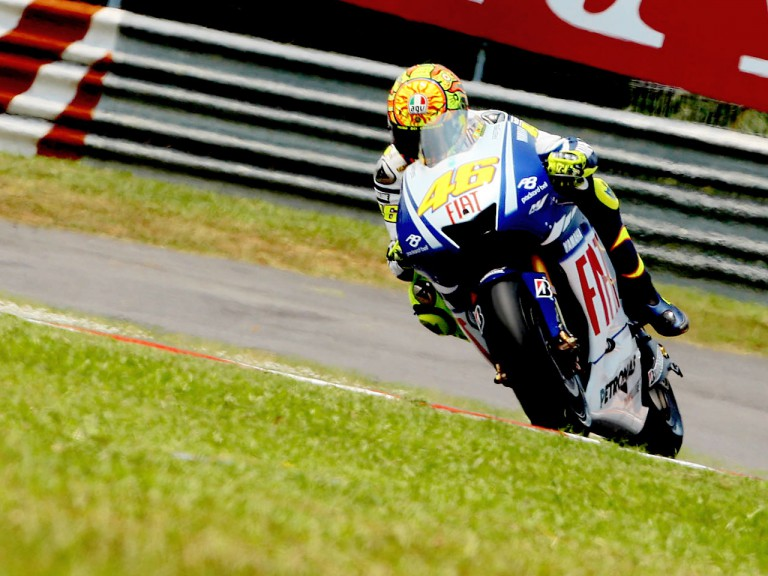 in action in Sepang