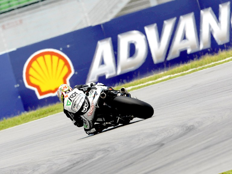 Gabor Talmacsi in action in Sepang