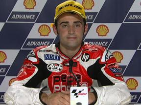 Hector Barbera interview after race in Sepang