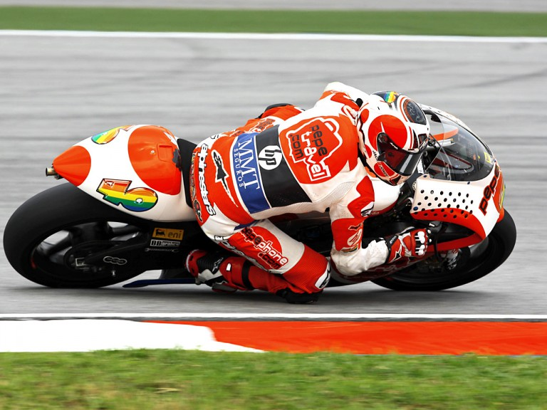Héctor Barberá in action in Sepang