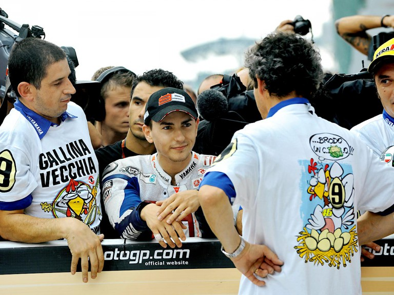 Jorge Lorenzo in the Parc Fermé after the race in Sepang