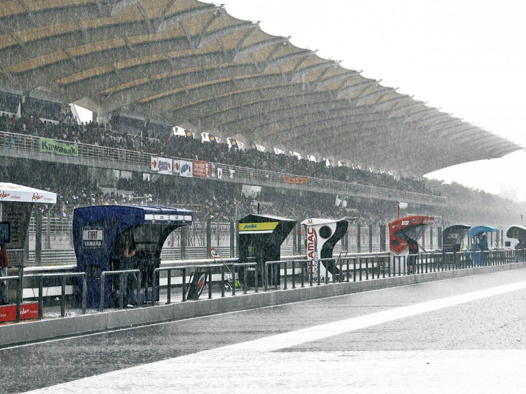Rainy day at Sepang Circuit