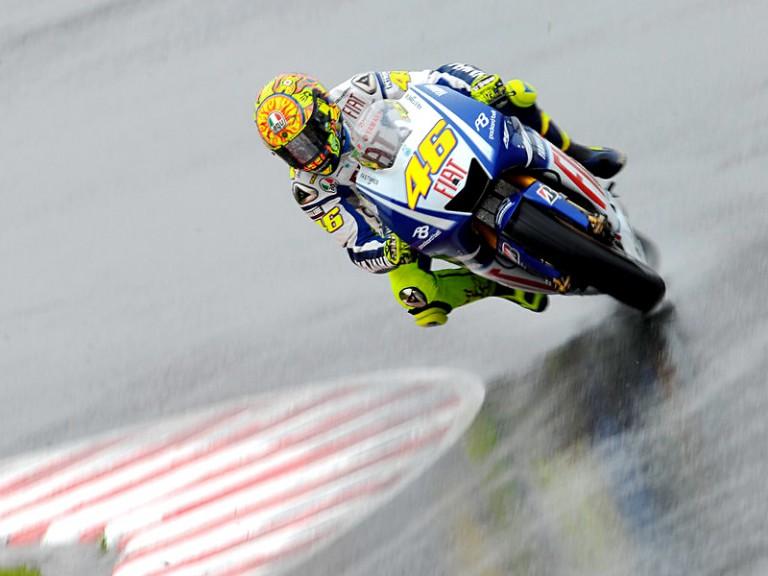 Valentino Rossi on track