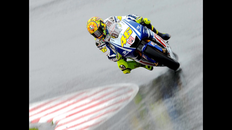 Valentino Rossi on track