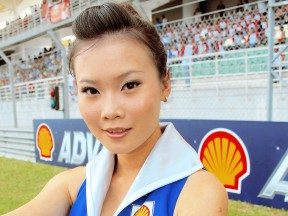 Paddock girl at the Shell Advance Malaysian Motorcycle GP
