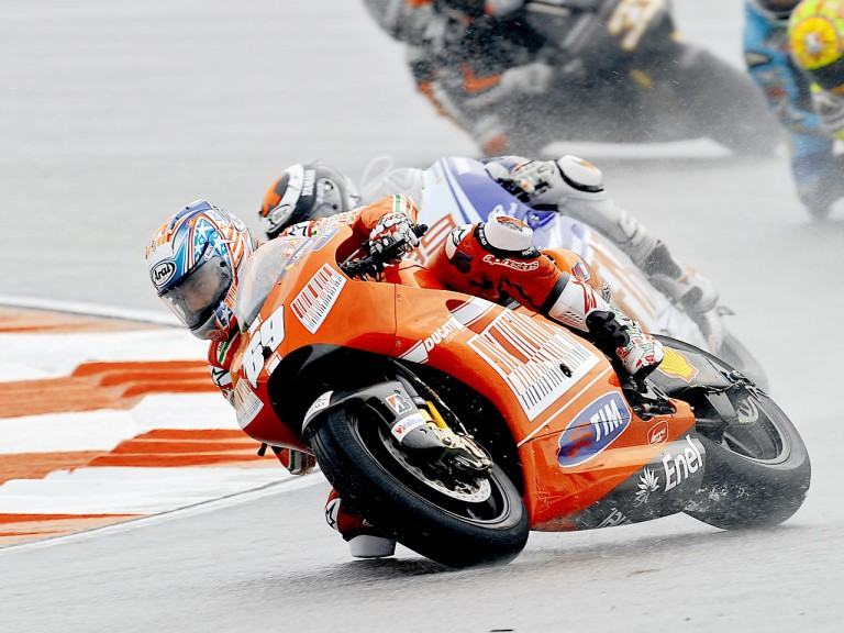 Nicky Hayden in action in Sepang