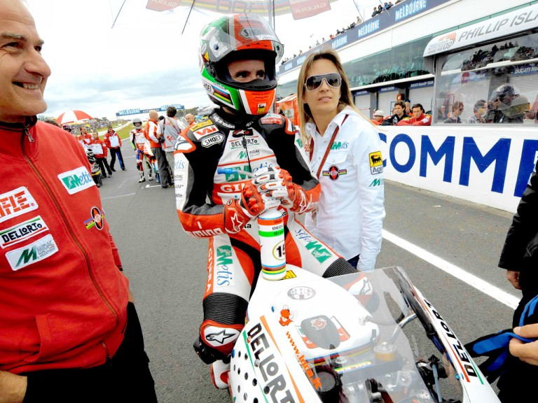 Roberto Locatelli at the starting grid in Sepang