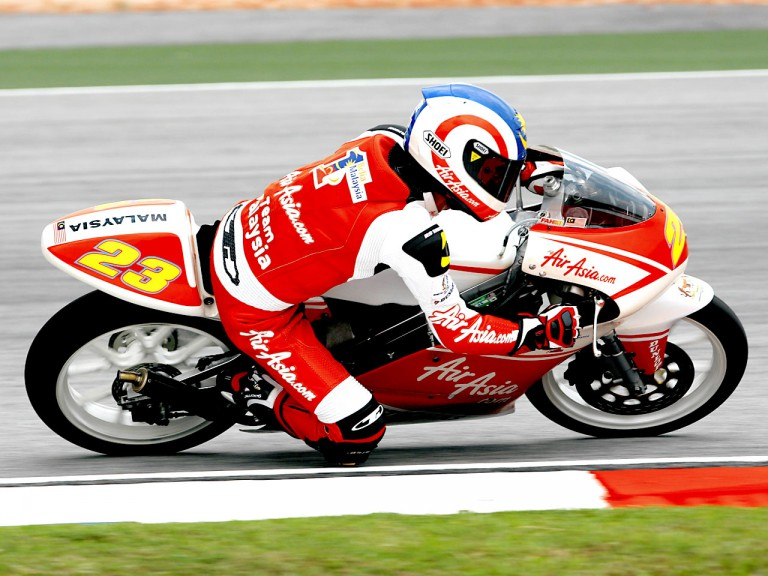 Muhammad Zulfahmi in action in Sepang