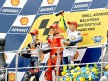 Pedrosa, Stoner and Rossi on the podium at Sepang