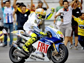 Rossi celebrates 2009 MotoGP World Championship win