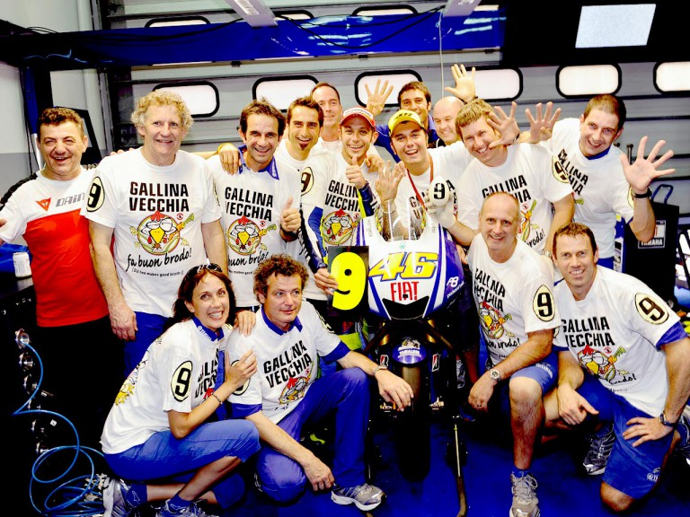 Fiat Yamaha Team celebrate 2009 MotoGP World Championship