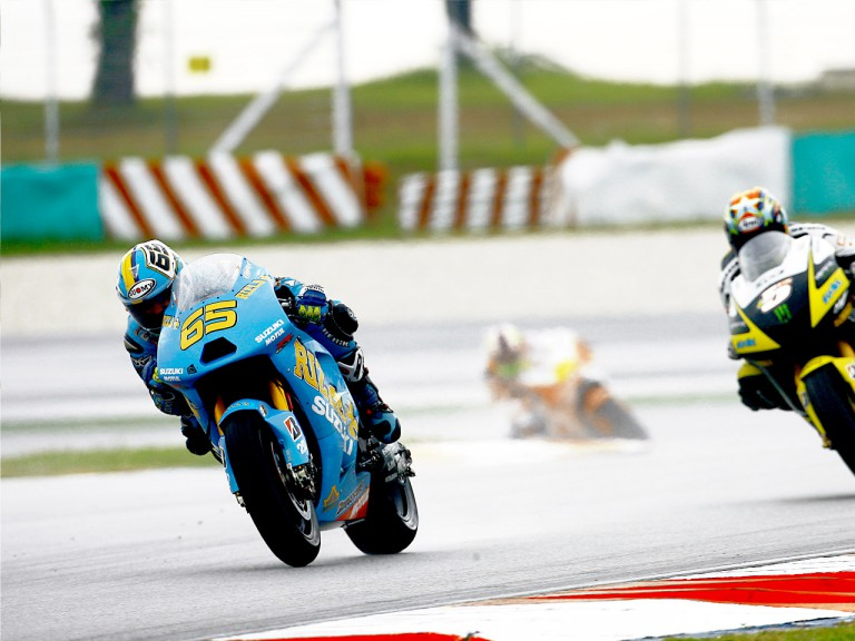 Loris Capirossi in action in Sepang