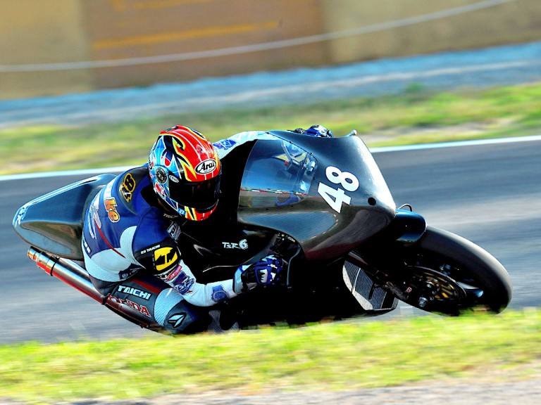 TSR6 Moto2 Bike in action