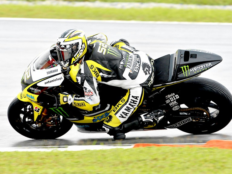 James Toseland in action in Sepang
