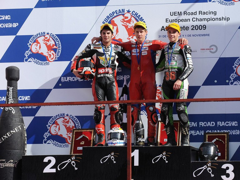 125gp Podium: Schrötter, Moncayo and Tonucci