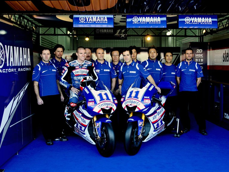 The Sterilgarda Yamaha Team unveils Ben Spies' livery for Valencia