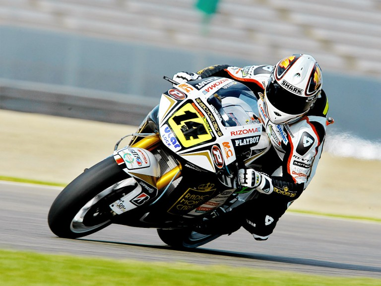 Randy de Puniet in action in Valencia
