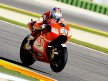 Nicky Hayden in action in Valencia