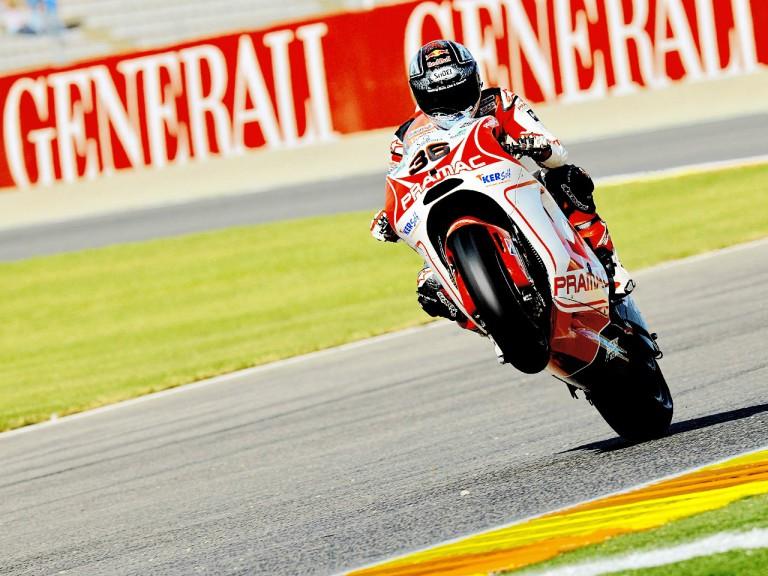 Mika Kallio Pulls off a wheelie in Valencia