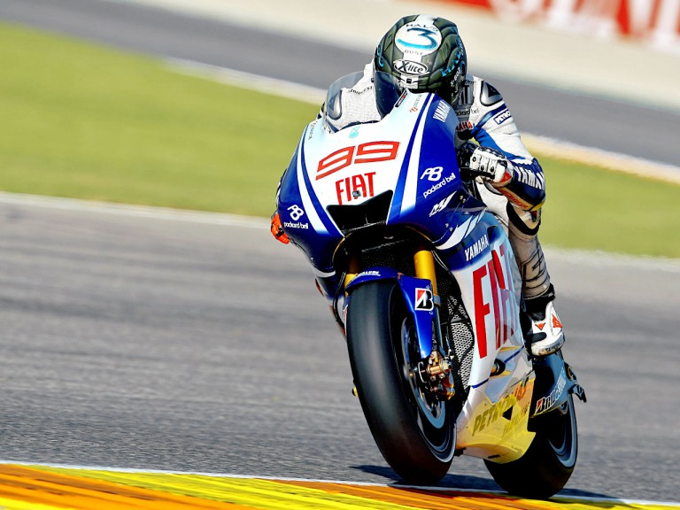 Lorenzo in action in Valencia