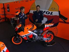 Pedrosa's Honda RC212V explained by Mike Leitner
