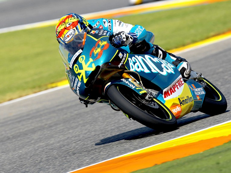 Sergio Gadea in action in Valencia
