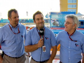 Ian Wheeler, Gavin Emmett and Nick Harris: motogp.com commentary team