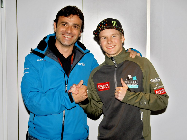 Jack & Jones Team Manager Javier Sabio and Danny webb