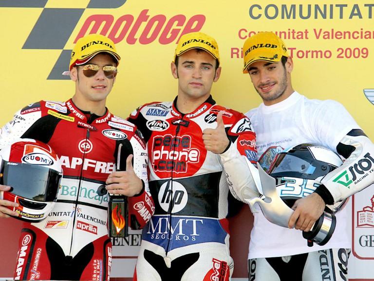 Bautista, Barberá and De Rosa on the podium at Valencia