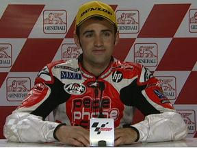Hector Barbera interview after race in Valencia