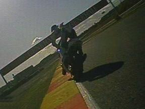 Jorge Lorenzo during race in Valencia