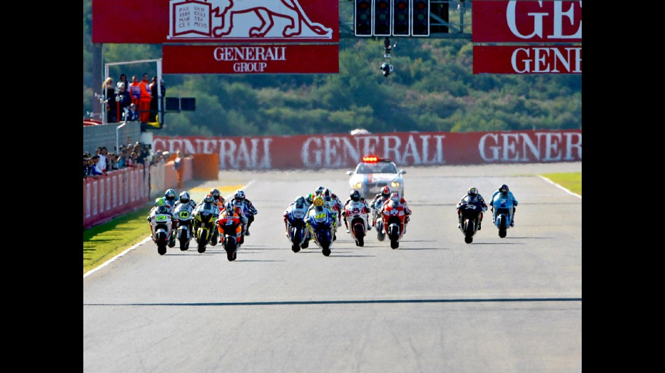 Start MotoGP race in Valencia