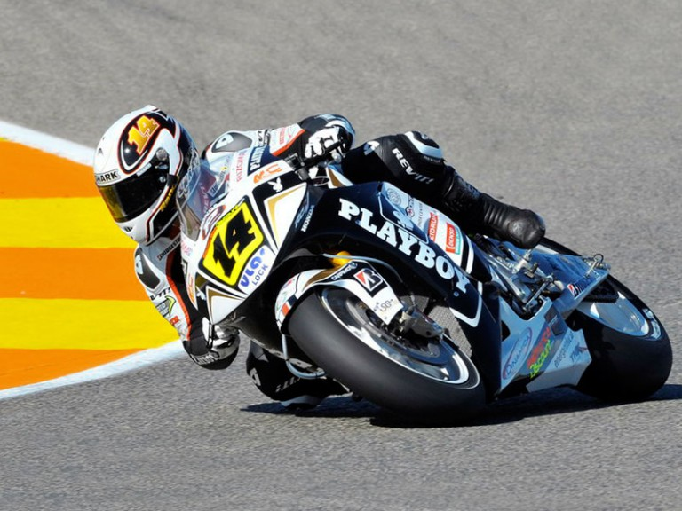 Randy de Puniet at the Valencia Post GP Test