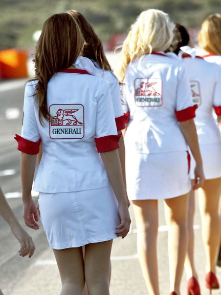 Paddock Girls at the GP Generali de la Comunitat Valenciana