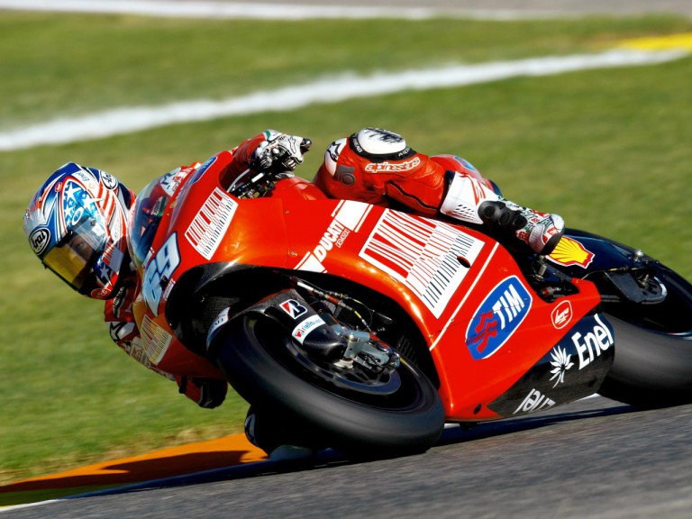 Nicky Hayden at the Valencia Post GP Test