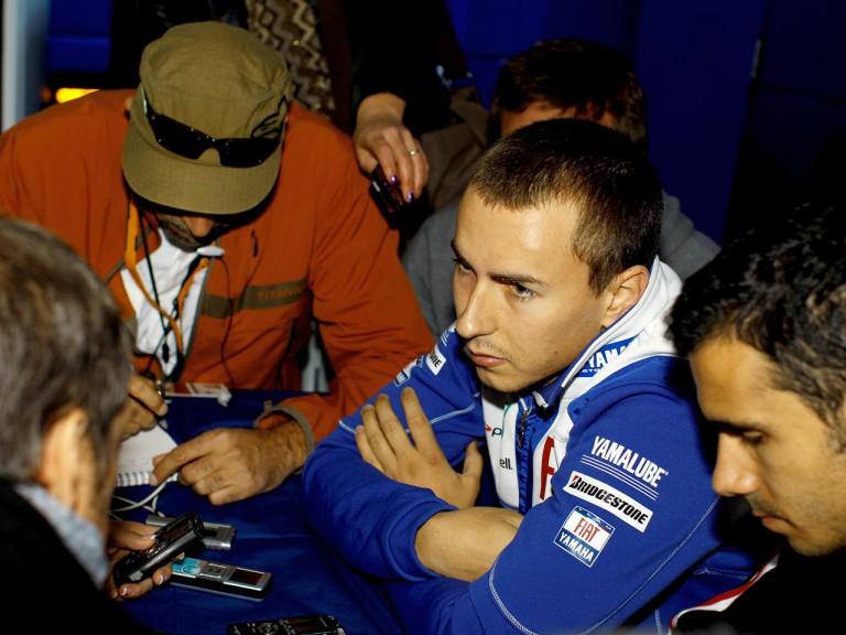 Jorge Lorenzo at the Valencia Post GP Test