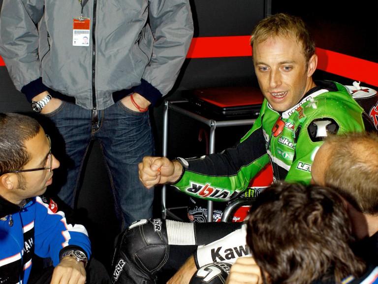 Kenny Noyes at the Valencia Post GP Test