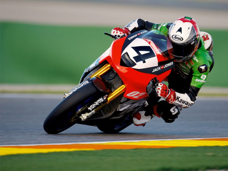 Kenny Noyes at the Valencia Post GP Test