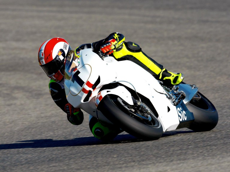 Marco Simoncelli at the Valencia Post GP Test